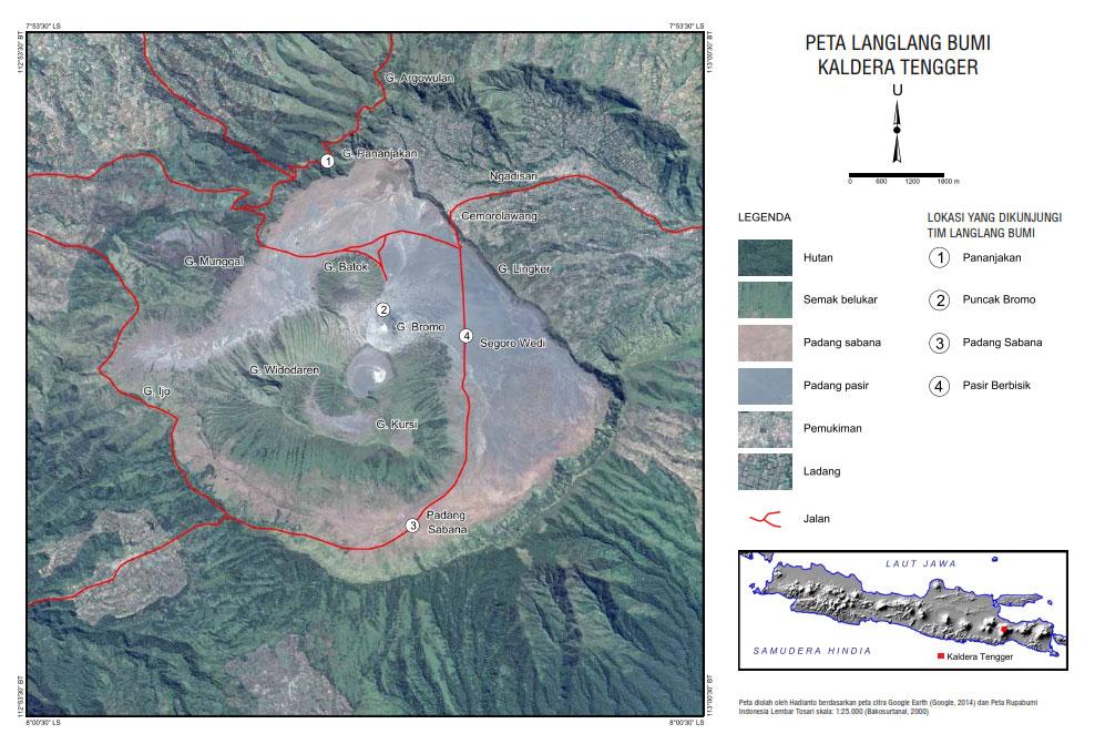 Peta Penanjakan 1 Gunung Bromo